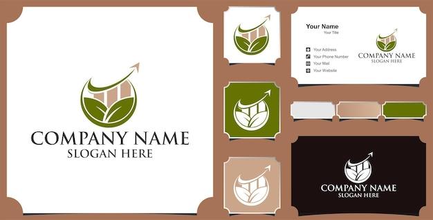 Logo für investitionen in die unternehmensfinanzierung und visitenkarte