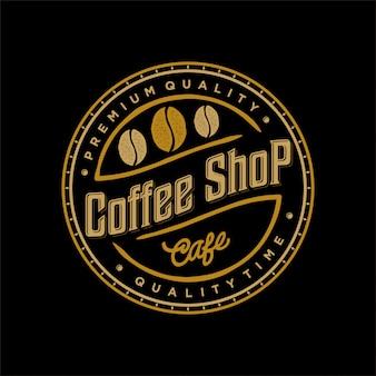 Logo für kaffee- und lebensmittel-getränkekennsatz