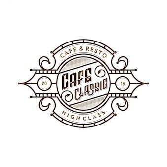 Logo für kaffeestuben oder kaffeeproduktaufkleber