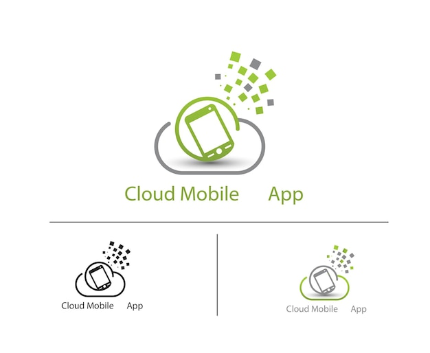Logo für mobile cloud-apps