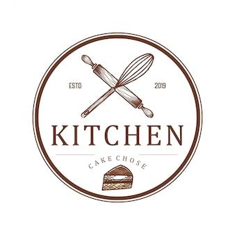 Logo für restaurants oder küchenbäckereien und catering