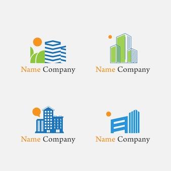 Logo gebäude morgen unternehmenseigentum