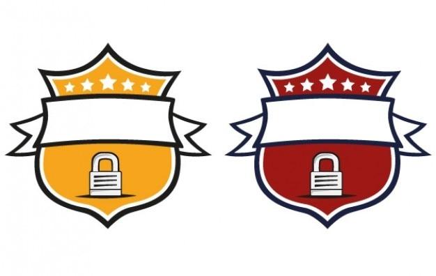 Logo gelben und roten schilde
