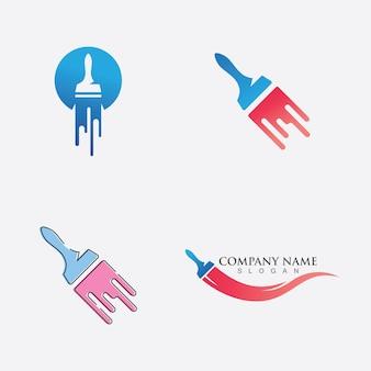 Logo-geschäftsvektorsymbol malen
