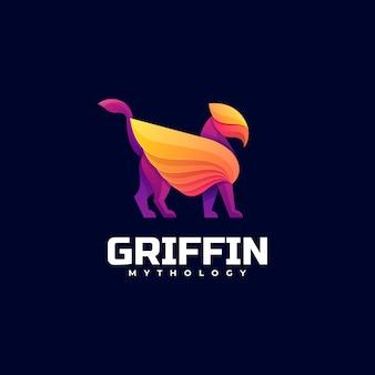 Logo griffin farbverlauf bunter stil.