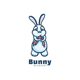 Logo hamster einfacher maskottchen-stil.