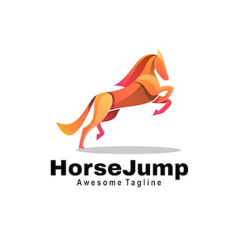 Logo horse jump gradient bunter stil.