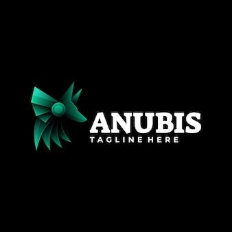 Logo illustration anubis farbverlauf bunter stil.