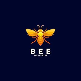 Logo illustration bee bunter stil.