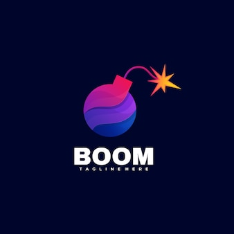 Logo illustration boom gradient bunter stil.