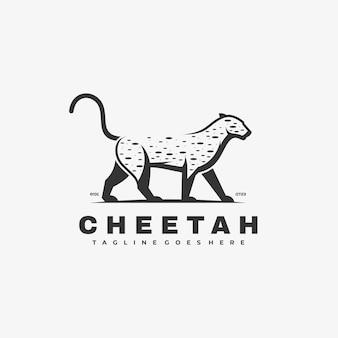 Logo illustration cheetah simple mascot style