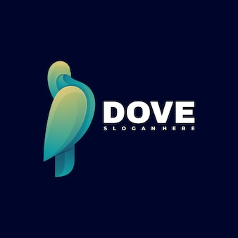 Logo illustration dove gradient bunter stil.
