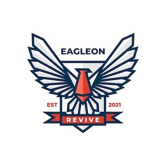 Logo illustration eagle einfacher maskottchen-stil.