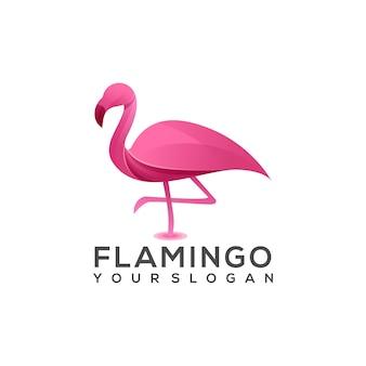 Logo illustration flamingo gradient Premium Vektoren