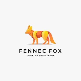 Logo illustration fox eleganter farbverlauf bunt