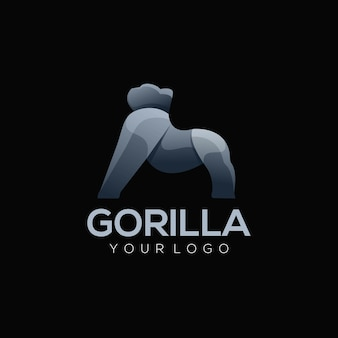 Logo illustration gorilla einfach