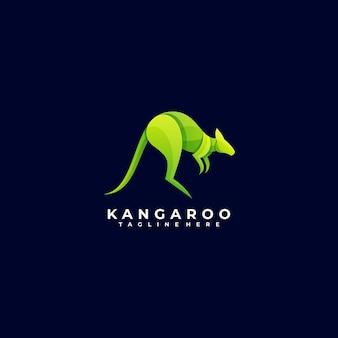 Logo illustration kangaroo gradient bunter stil.