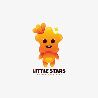 Logo illustration little star farbverlauf bunt.