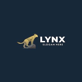 Logo illustration lynx gradient bunter stil