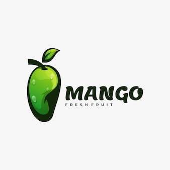Logo illustration mango farbverlauf bunter stil.