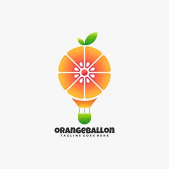 Logo illustration orange ballon farbverlauf bunter stil.