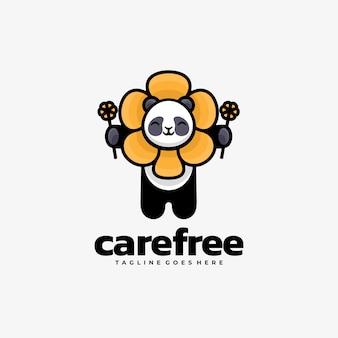 Logo illustration pflege kostenlos einfacher maskottchen-stil.