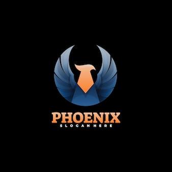 Logo illustration phoenix farbverlauf bunter stil.