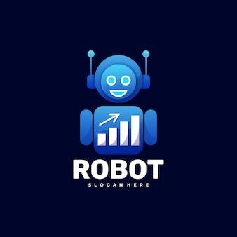 Logo illustration robot gradient bunter stil.