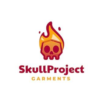Logo illustration schädel projekt maskottchen cartoon stil