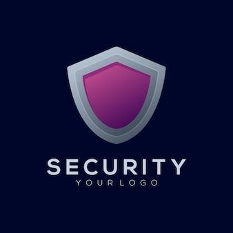 Logo illustration sicherheit farbverlauf bunter stil