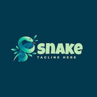 Logo illustration snake gradient bunter stil.