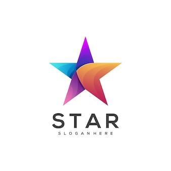 Logo illustration stern farbverlauf bunt