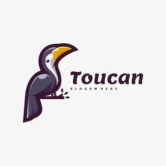 Logo illustration toucan simple mascot style.