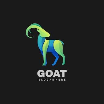 Logo illustration ziege gradient bunten stil.
