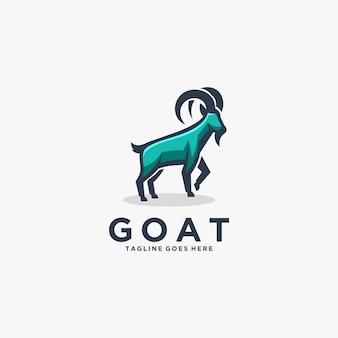 Logo illustration ziege maskottchen cartoon style.