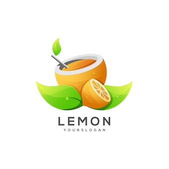 Logo illustration zitrone farbverlauf farbe