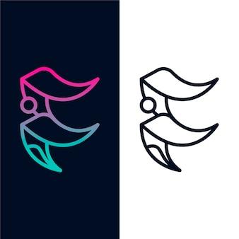 Logo im abstrakten stil in zwei versionen