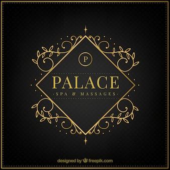 Logo im Vintage- und Luxus-Stil