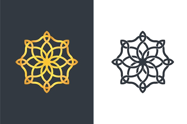 Logo in zwei versionen abstraktes design