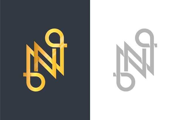 Logo in zwei versionen im goldenen stil