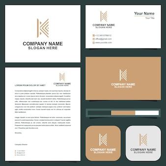 Logo k und visitenkarte