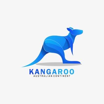 Logo kangaroo gradient bunter stil.
