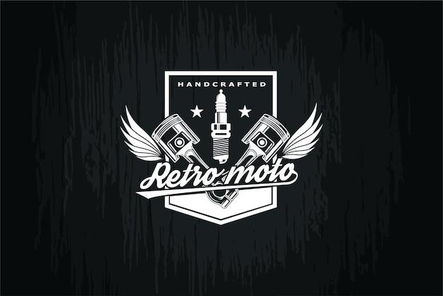 Logo-kolben auf schwarzer hintergrundillustration