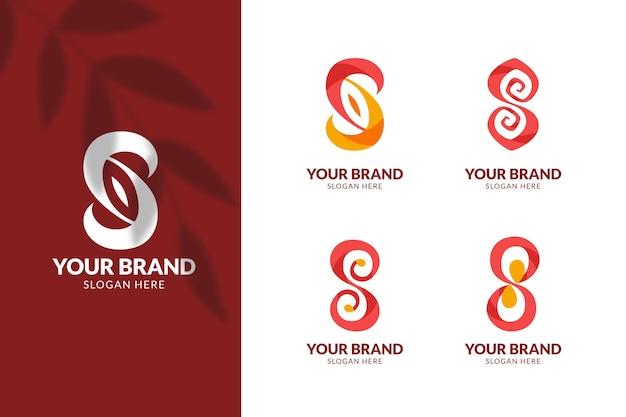 Logo-kollektion des flachen designs