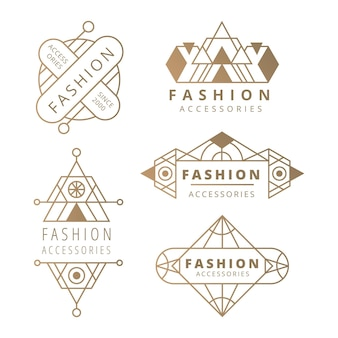 Logo-kollektion für modeaccessoires