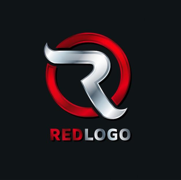 Logo konzept abstrakt r rotes logo. konzept des briefes an das firmenlogo, servicegrafiken