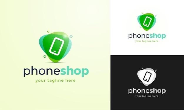 Logo-konzept für einen telefonladen