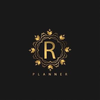 Logo luxury mit goldener farbe