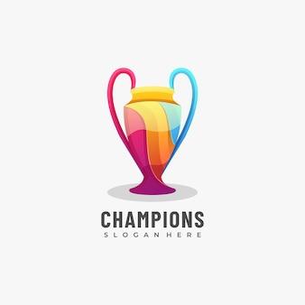 Logo mari champions farbverlauf bunt