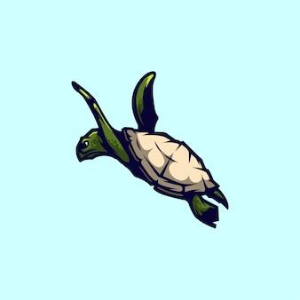 Logo maskottchen schildkröte